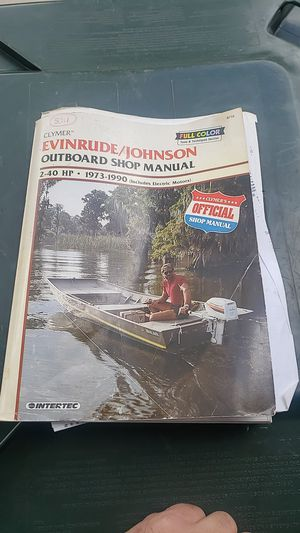 Evan Ruth Johnson outboard shop manual 1973 to 1990 for Sale in Bensenville, IL