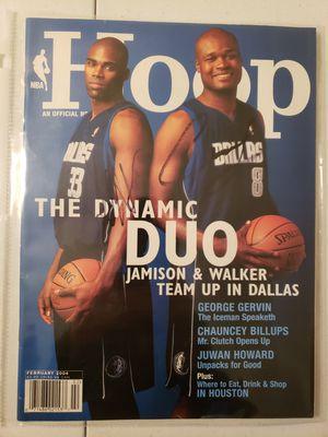 Signed Antawn Jamison and Antoine Walker Dallas Mavericks NBA basketball magazine for Sale in Gresham, OR