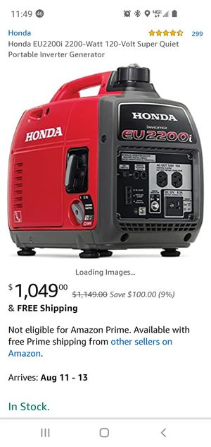 Honda suit case generator for Sale in Apple Valley, CA