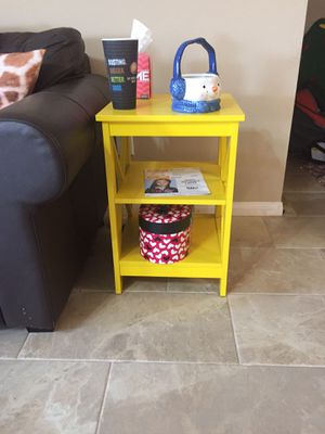 Two yellow side tables - great condition for Sale in Richmond, TX