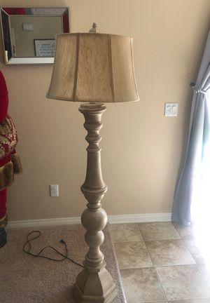 Cream Floor Lamp for Sale in San Bernardino, CA