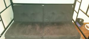 Black Futon with Adjustable Positions for Sale in Garland, TX