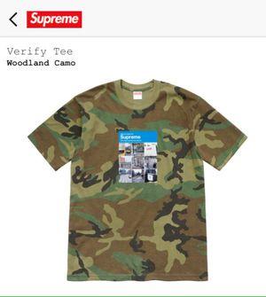 SUPREME Photo Verify Captcha Tee T Shirt Woodland Camo Size Men's XL X-Large Extra Large FW20 NEW SEALED RECEIPT for Sale in Evesham Township, NJ