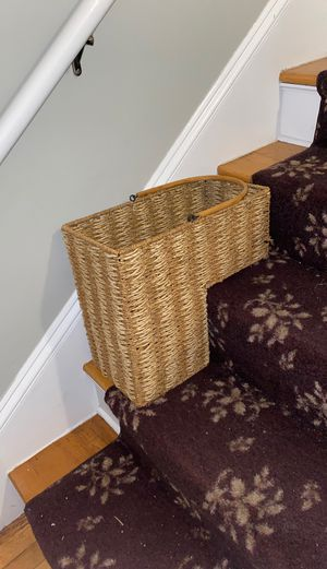 Wicker staircase storage basket for Sale in Cranston, RI