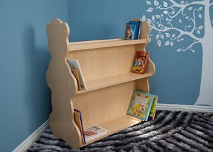Baby Furniture Bear Mobile Double-Sided Bookcase, Bookshelves Natural Maple for Sale in Hollywood, FL