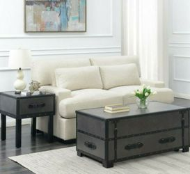 Picket House Furnishings Newport 44 in. Gray Large Rectangle Wood Coffee Table with Lift Top for Sale in West Covina,  CA