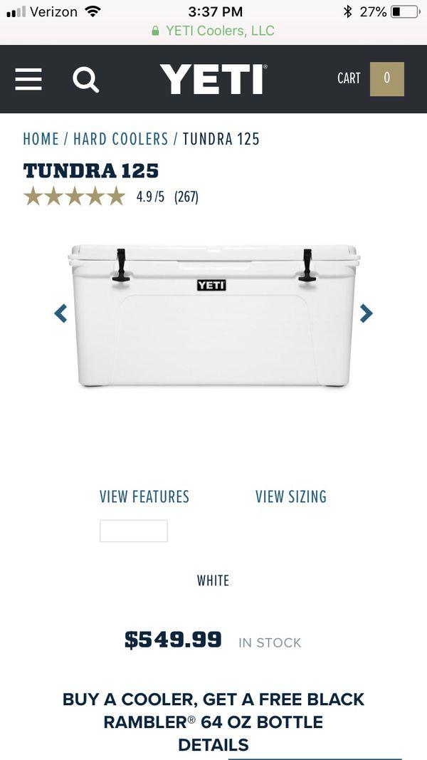 Yeti Tundra 125 White Cooler