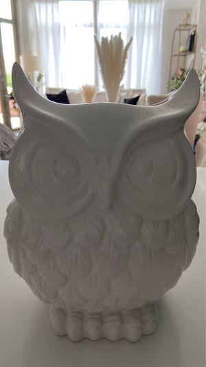 Ceramic owl flower vase or decor for Sale in Alexandria, VA