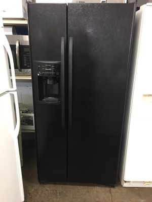 Financing - 90 Day Warranty - Guaranteed Refurbished Black side-by-side refrigerator water and ice dispenser for Sale in Knoxville, TN