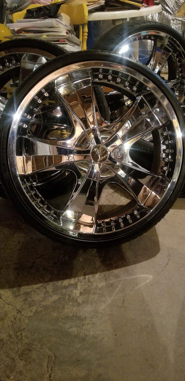 22 inch chrome rims 5 lug pattern 22×8