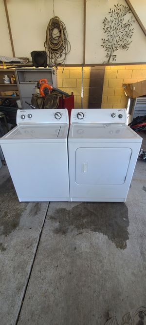 Whirlpool Set Washer and Electric Dryer Heavy Duty Extra Large Capacity Hoses included for Sale in Phoenix, AZ