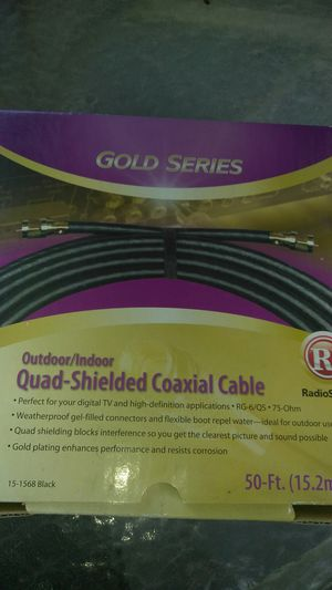 Quad shielded coaxial cable (New) for Sale in Mountain View, CA