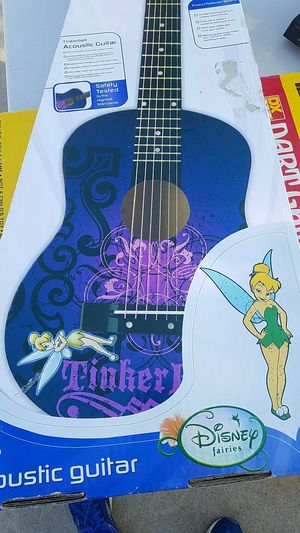 Disney Tinkerbell Wasburn acoustic guitar in box. for Sale in Modesto, CA