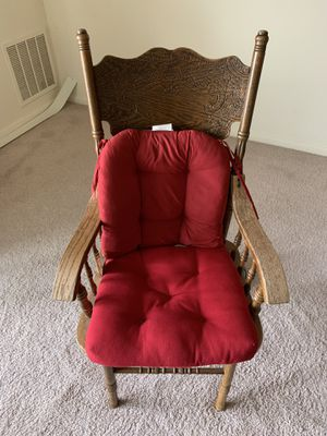 Nice wooden chair with added cushion support for Sale in Sterling, VA