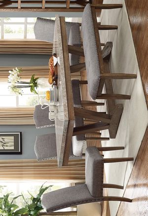 5-Piece (Table+4 Chairs) Vesper Brown/Gray Marble Rectangular Dining Set | 1211 for Sale in Houston, TX