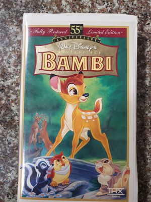 Disney bambi 55 Anniversary Edition VHS for Sale in Miami Beach, FL