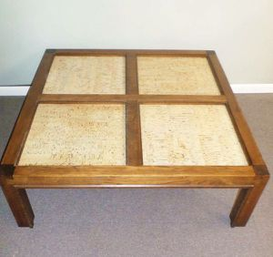 Square Solid Wood Coffee Table, Delivered for Sale in Tacoma, WA