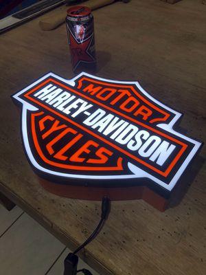 Harley Davidson aluminum LED sign for Sale in El Monte, CA