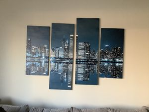 Canvas Chicago Skyline for Sale in Chicago, IL
