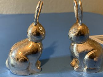 """These two rabbits do not know what metal they are made of. If anyone knows, write.L-3 2/8"""" W-1 2/8"""" for Sale in Vancouver,  WA"""