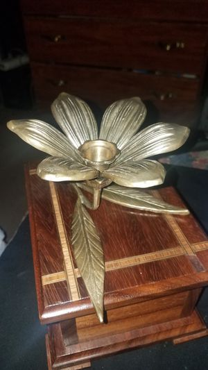 Solid brass flower candle holder for Sale in Oklahoma City, OK