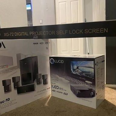 4k Projector, Speakers, and Screen $1600 OBO