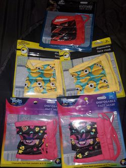 Kids reusable Face Mask Wash up to 20 times for Sale in Auburn,  WA