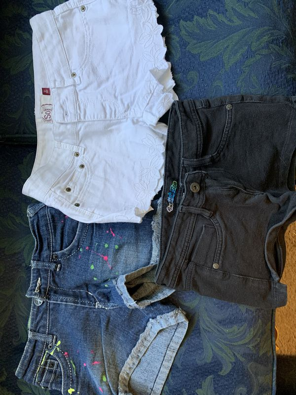 Girl's Jean and Cloth Shorts