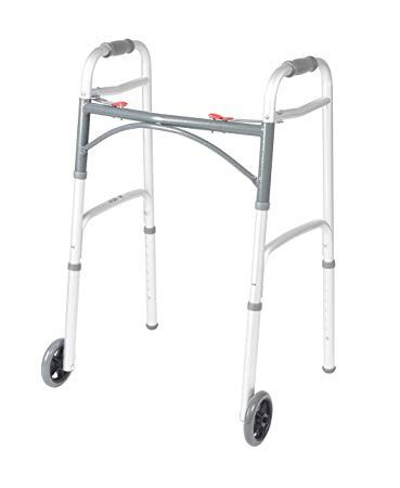 Drive Medical Two Buttons Folding Walker