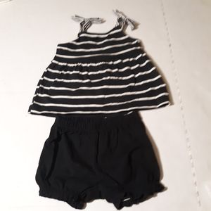 Carters size 12m Girls Outfit Black & White for Sale in Irvington, NJ