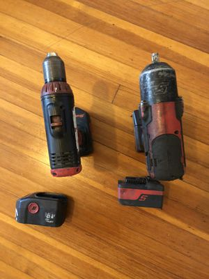 2 drill snap on Good condition 2 battery no charger for Sale in Greenwich, CT