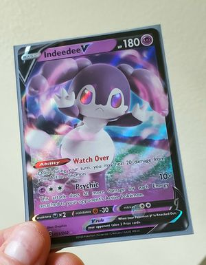 Indeedee V Holographic Pokemon Card from the brand new series - Mint Condition for Sale in Gaithersburg, MD