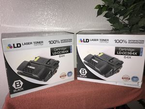LD CC364X 64X Black Laser Toner Cartridge for HP Printer ** Lot of 2** for Sale in San Diego, CA