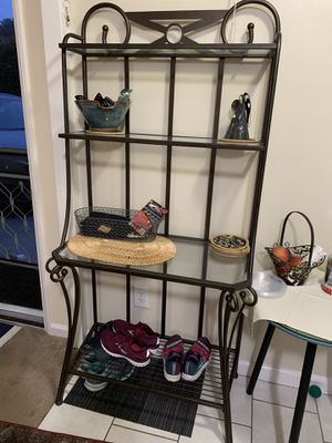 "Baker's rack glass shelves 16.5""x67""height for Sale in Glendale, CA"