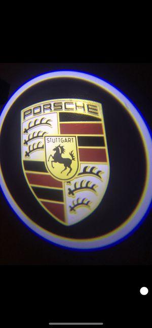 Porsche car door projector lights shadow lights auto on/off aaa batteries for Sale in Long Beach, CA