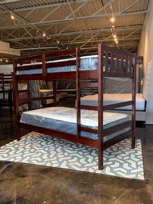 Twin over twin Bunk bed plus Mattresses (Free Delivery) for Sale in Austin, TX