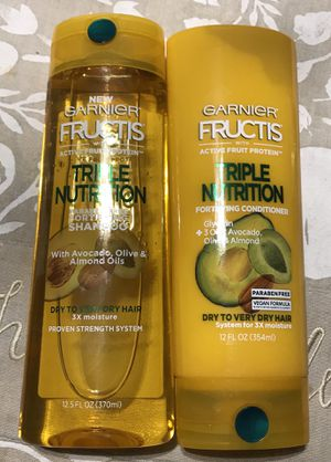 Garnier Fructis Shampoo & conditioner 12 fl oz for Sale in Kensington, MD