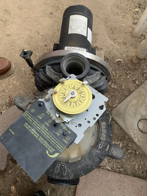 Pool pump and timer for Sale in Bakersfield, CA