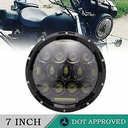 DOT Harley 7 Inch LED Headlight DRL Hi/Lo Beam For Harley Davidson Breakout Deluxe Fatboy Sportster Iron Softail Street Glide Indian Scout Victory for Sale in Ontario,  CA