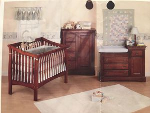 Bassett 2-in-1 Sleigh Crib and Changing Table (Crib becomes full size sleigh bed and changing table is a dresser) for Sale in Clovis, CA
