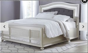 Silver california king bedroom set for Sale in Lowell, MA