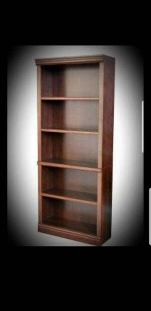 New Hampton Bay Dark Brown Wood Open Bookcase☆Retail Price $127+ tax☆ for Sale in Phoenix, AZ