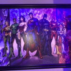 Dc Poster With Pictures Frame for Sale in Perris, CA