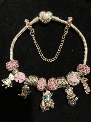 """Pandora style bracelet charms rockers collection. bracelet size: 8"""" . 20 cm. If you need another size of the bracelet, ask me I can change it. for Sale in Fullerton, CA"""