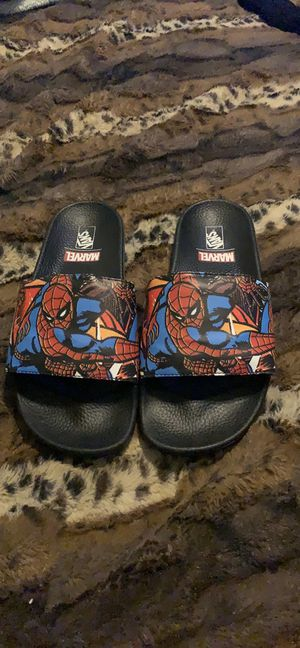Like New SpiderMan Vans Slides for Sale in Dallas, TX
