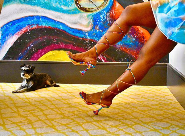 The Dye Tie Up Heels