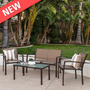 4-Piece Outdoor Patio Metal Conversation Furniture Set for Sale in Riverside, NJ