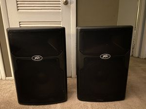"""Two Peavey 15"""" powered speakers for Sale in Hoffman Estates, IL"""