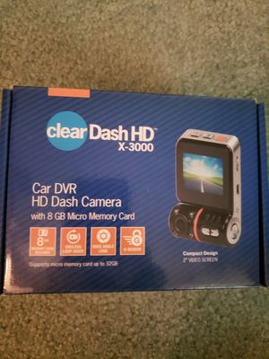 Cleardash Dash Camera W/Memory Card for Sale in Gahanna, OH