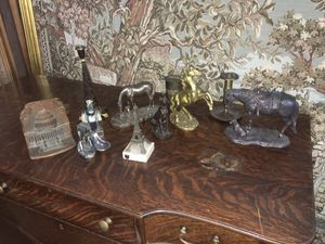 Collection of brass and bronze horses and missy for Sale in Whittier, CA